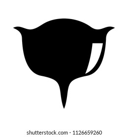 vector uterus symbol isolated - female silhouette, gynecology shape. medical inspection