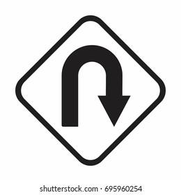 U Turn Sign Images, Stock Photos & Vectors | Shutterstock