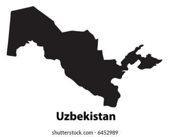 Vector of Uzbekistan