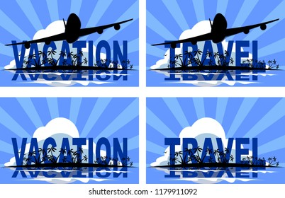Vector vacation travel tropical banner poster