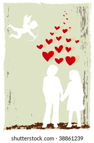 Vector valentine poster