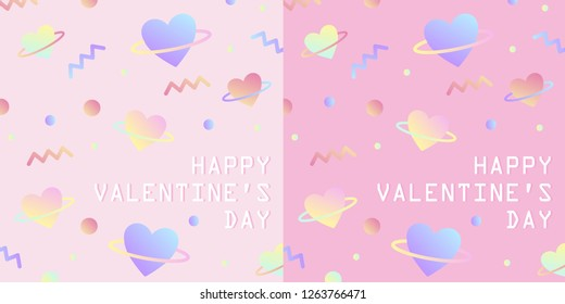 Vector Valentine's day cards templates. Use for banners, greeting cards, gifts, poster - Vector