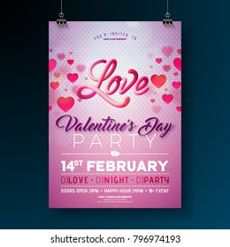 Greeting card backgrounds images stock photos vectors shutterstock vector valentines day party flyer design with love typography letter and heart on clean background m4hsunfo Images