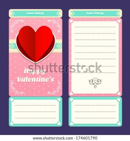 vector valentines ticket design template stock vector royalty free