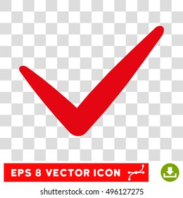 Vector Valid EPS vector pictogram. Illustration style is flat iconic intensive red symbol on a transparent background.