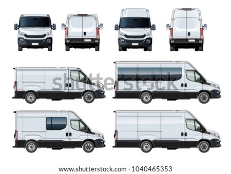 vector vans set template isolated on stock vector royalty free