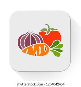 vector vegetables icon. Flat illustration of vegetables. vegetables isolated on white background. vegetables sign symbol