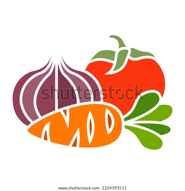 vector vegetables icon. Flat illustration of vegetables. vegetables isolated on white background. vegetables sign symbol