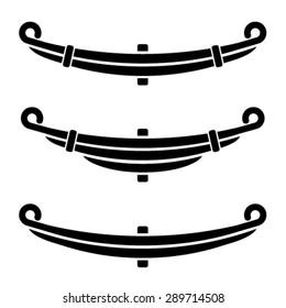 vector vehicle leaf spring black symbols