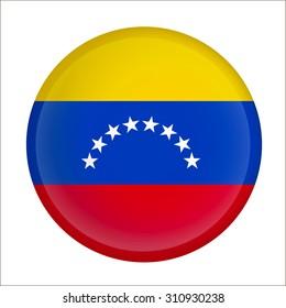 Vector - Venezuela Flag Glossy Button