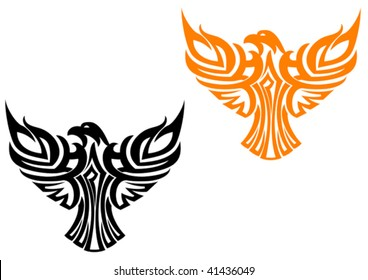 Vector version. Beautiful american eagle symbol isolated on white