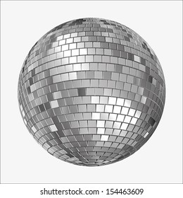 Vector Version of  a Mirrorball, Mirror Ball, Disco Ball, Discoball or Spiegelkugel, for party flyers