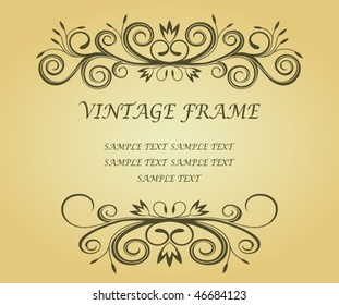 Vector version. Vintage frame in victorian style for ornate and design. Jpeg version is also available