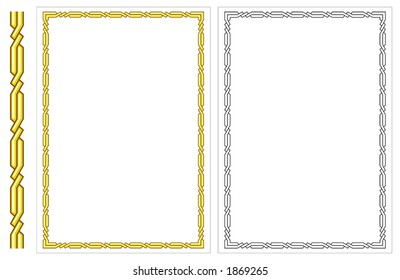 Vector vertical decorative frame. This is a vector image - you can simply edit colors and shapes.
