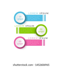 Vector vertical infographic circular diagram, template for business, presentations, web design. Timeline circle infographic template with 3 options or steps. Eps10 Vector