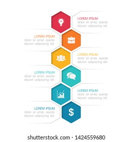 Vector vertical infographic diagram, template for business, presentations, web design, 6 options.