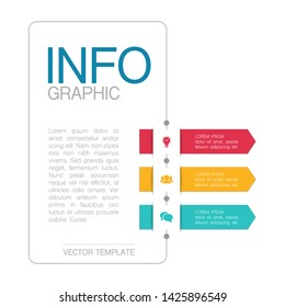 Vector vertical infographic diagram, template for business, presentations, web design, 3 options.