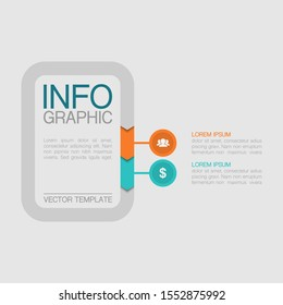 Vector vertical infographic diagram, template for business, presentations, web design, 2 options.