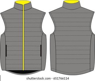vector vest fashion illustration