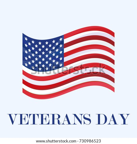Vector veterans day greeting invitation card stock vector royalty vector veterans day greeting or invitation card national american holiday illustration with usa flag m4hsunfo