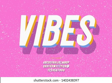 Vector vibes 3d bold typeface