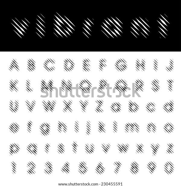 vector vibrant lines font