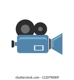 vector video camera isolated - technology symbol. movie cinema, multimedia icon
