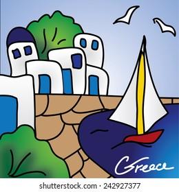 Vector view of Greece