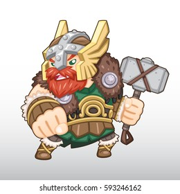 Vector Viking Warrior Illustration