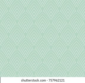 Vector Vintage Art Deco Seamless Pattern. Wavy texture with circles. Retro stylish background.