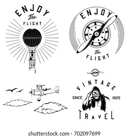 vector vintage aviation parts and logos, clipart, template, eps, clip art, monogram