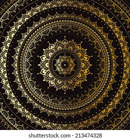 Vector vintage background. Mandala. Indian decorative pattern.