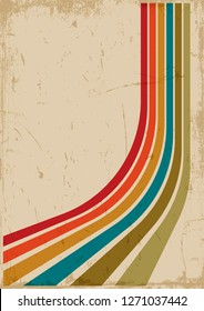 Vector Vintage Background, Pattern, Cover with Grunge Effect from the 70s