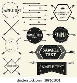 Vector vintage badge and label templates. Great for retro designs