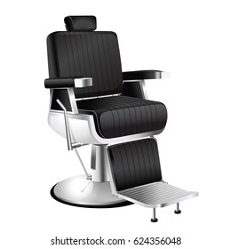 Vector vintage barber chair on a white background