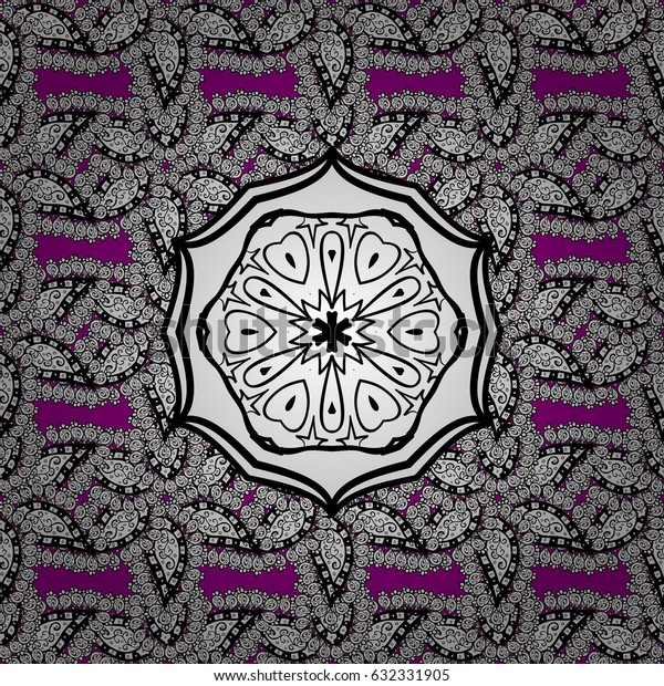 Vector vintage baroque floral seamless pattern in white. Luxury, royal and Victorian concept. White pattern on a magenta background with white elements. Ornate decoration.