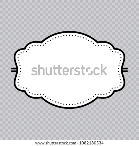 vector vintage blank logo template frame stock vector royalty free