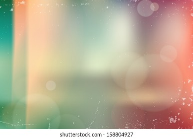 Vector vintage blurry unfocused background with light leaks