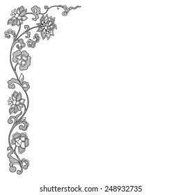 Vector vintage border frame. calligraphic design elements