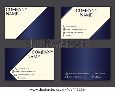 vector vintage business card set beauty designs front page and back page vector