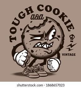 The vector vintage cartoon cookie personage