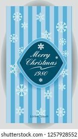Vector vintage christmass banner. Vertical background 1080x1920 resolution.