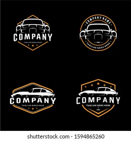 Vector Vintage Classic Cars Logo Template Set