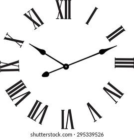 Vector vintage clocks