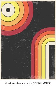 Vector Vintage Cover Background from the 1970s