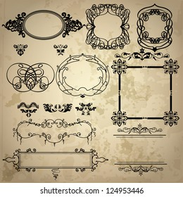 Vector vintage design element
