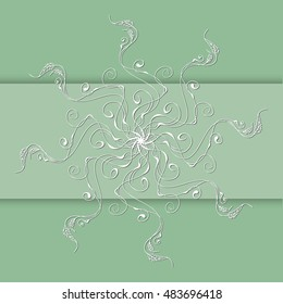 Vector vintage floral border. Abstract hand drawn ornament for greeting cards, invitations in pastel colors. Ornate of leaves and flowers in elements for decor and design.