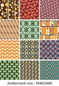 vector vintage geometric seamless pattern