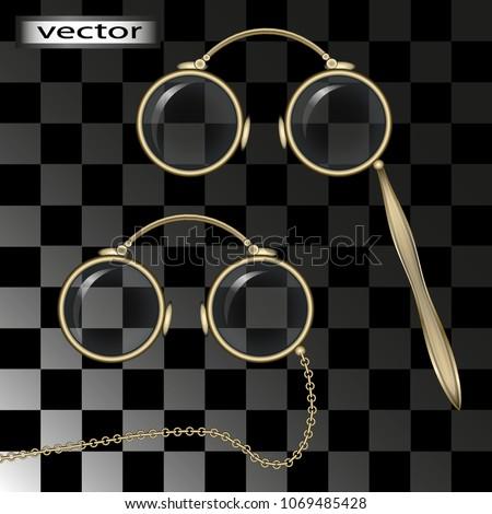 969cec6b1e840 Vector Vintage Glasses Pincenez Pen Holder Stock Vector (Royalty ...