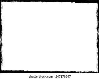 Vector Vintage Grunge Black and White Distress Border Frame for your Design .